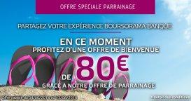 80€ offerts pour l'ouverture d'un compte Boursorama Banque via un parrain jusqu'au 13/08/2014