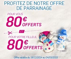 80€ offerts pour l'ouverture d'un compte Boursorama Banque via un parrain jusqu'au 4/03/2015