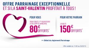 80€ offerts pour l'ouverture d'un compte Boursorama Banque via un parrain jusqu'au 25/02/2015