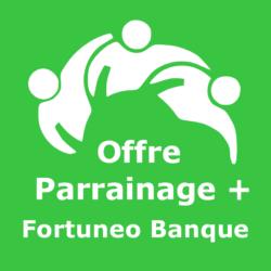 Logo Offre parrainage + Fortuneo Banque