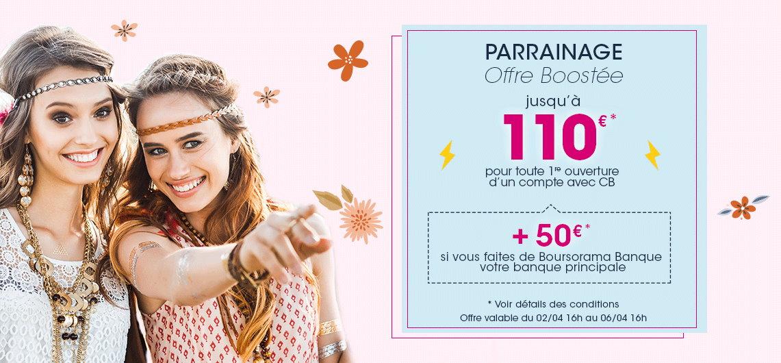200€ offerts pour l'ouverture d'un compte Boursorama Banque via un parrain jusqu'au 6 avril 2021